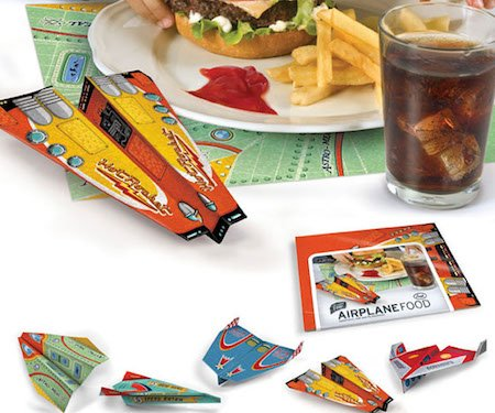 Airplane Food Paper Placemats