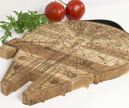 Millennium Falcon Cutting Board