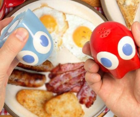 Pac Man Ghost Salt And Pepper Pots