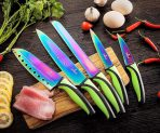 Rainbow Kitchen Knife Set